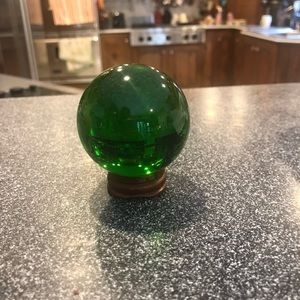 Other - 🌻Green crystal ball with stand